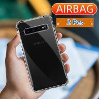 2 Pcs Transparent Soft Case For Samsung Galaxy Note 10 20 Plus 8 9 S8 S9 S10 Lite S20 FE Plus Ultra S10E Shockproof Case