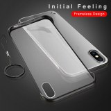 Frameless Case For iPhone 7 Case Transparent Matte Hard Phone Cover For iPhone XR XS Max X 7 6 6s 8 Plus With Finger Ring Case