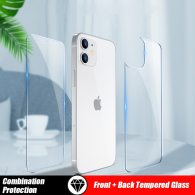 Front and Back Full Cover Tempered Glass For iPhone 12 11 Pro Max mini Screen Protector XR X XS Max 8 7 6 6S Plus SE 2020 Glass