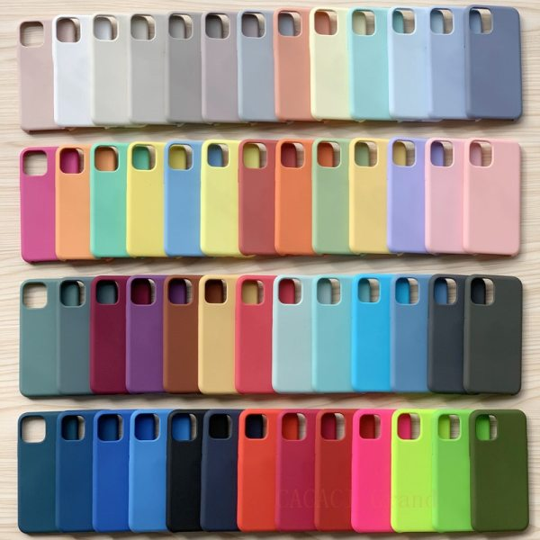 Original Official Liquid Silicone Case For iPhone 12 11 pro XS Max XR X Cases for iPhone 7 8 plus 6 6S SE 2020 12 Pro With Box