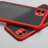 Luxury Contrast Color Frame Matte Phone Case for iPhone 11 Pro 11Pro X XS XR Max 12 8 7 6 6S Plus Protection Back Cases Cover