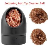 Soldering Iron Mesh Filter Cleaning Nozzle Tip Copper Wire Cleaner Ball Desoldering Metal Dross Box Cleaning Ball