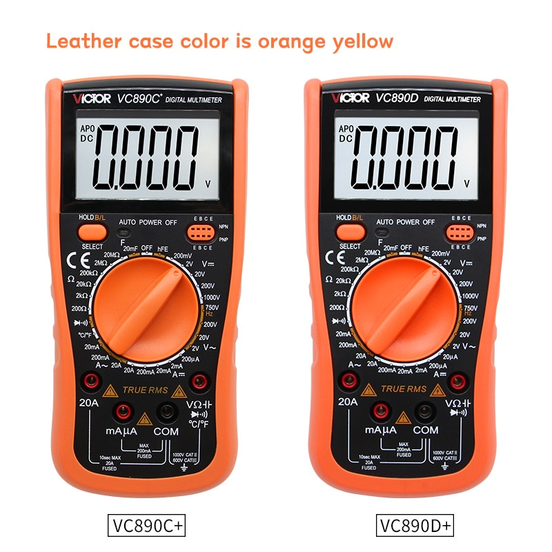 VICTOR VC890C+VC890D Digital Multimeter True RMS capacitor 2000uF 20A AC DC Voltage Current capacitance Tester Meter Backlight