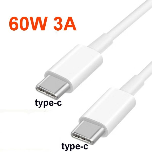 USB C to USB Type C to Type C for Samsung S20 PD 60W 1m 2m Cable for MacBook Pro iPad Pro2020 Quick Charge 4.0 USB-C Fast USB Charge Cord