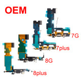 OEM Charging Port Dock Connector Flex Cable for iphone 7G 8G 6SP 7plus 8plus X XR XS MAX USB Microphone Repair Part