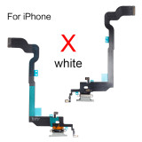 Original Charging Port Dock Connector Flex Cable for iphone 7G 8G 6SP 7plus 8plus X XR XS MAX USB Microphone Repair Part