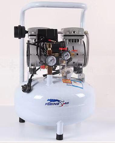 25L Small Air Compressor Oil-free Silent Air Compressor Machine Portable Dental Laboratory Mobile Air Compressor Machine