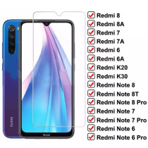 9H Tempered Glass For Xiaomi Redmi 8 8A 7 7A 6 6A K20 K30 Screen Protector Film Redmi Note 8T 8 7 6 Pro Safety Protective Glass