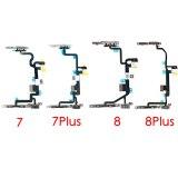 Power Flex Cable With Bracket Flash LED & Microphone For iPhone 6 6P 6s 6sp 7 7p 8 8 Plus X XS XR XS max 11 pro max 12 pro max 12 mini mobile phone parts