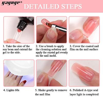 US WAREHOUSE 7 Colors Chameloen Poly Gel Kit+4in1 Dipping Powder P14-DP-2P