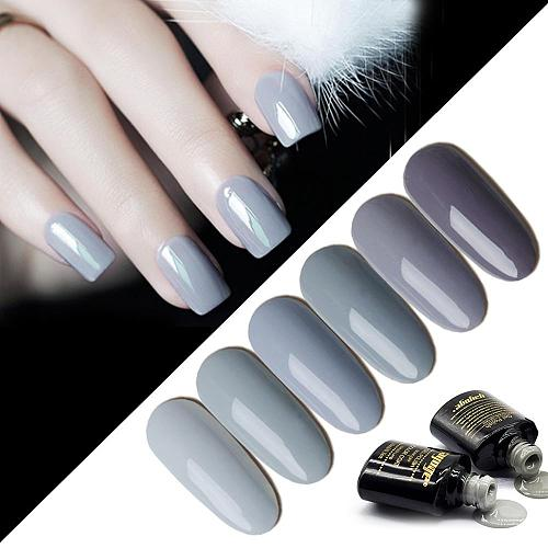 YAYOGE Milk Grey Color Series Gel Nail Polish A206