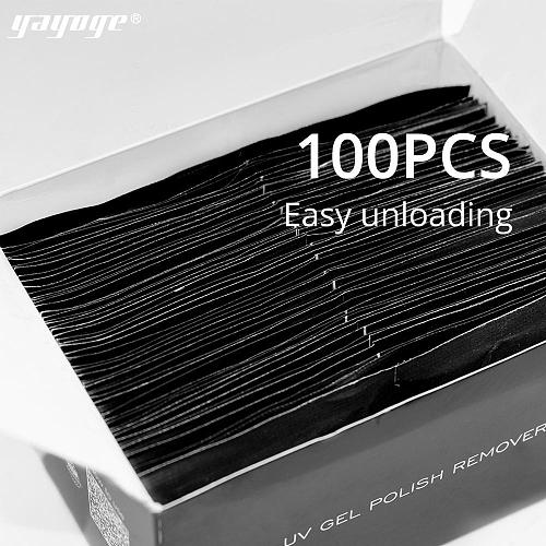 100Pcs/Box Nail Gel Polish Remover Nail Wrap Pads Nail Art Removal Tool
