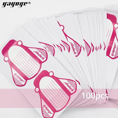 100Pcs/Set Adhesive Nail Forms For Builder Gel A16T100