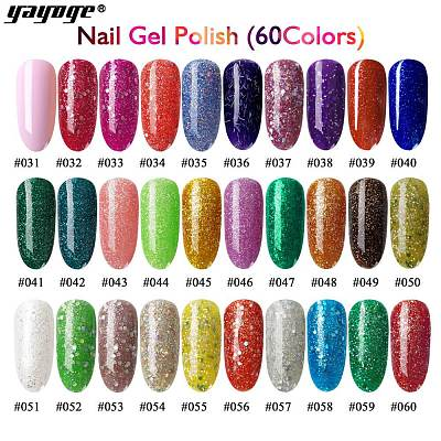 60 Colors UV LED Soak Off Gel Nail Polish(6ml)