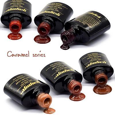 6 Colors Caramel Series UV LED Gel Nail Polish Soak Off(10ml)