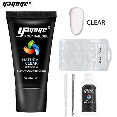 5 Pcs Poly Gel Set UV LED Opal Jelly Nail Extension Gel P26-S2(30ml)