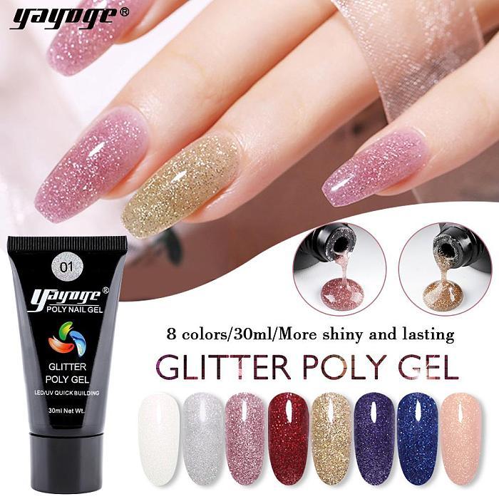 8 Colors Glitter Poly Gel P17(30ml)