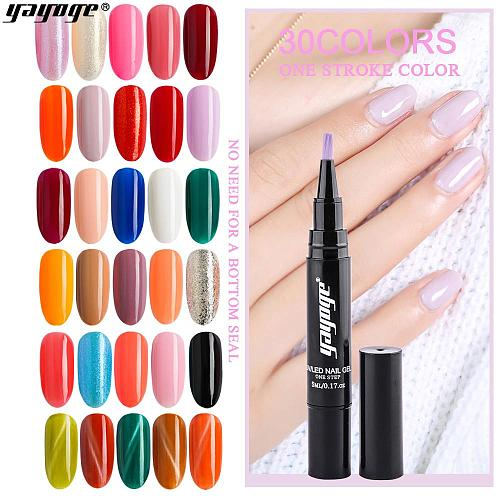 39 Colors Gel Nail Polish Pen UV LED One Step Gel No Need Base Top Coat