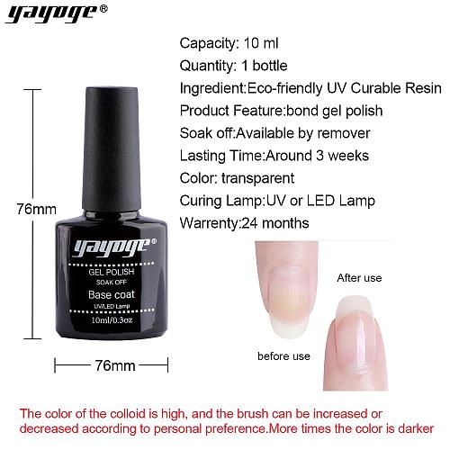 UV LED Gel Base Top Coat Set Nail Bonder A219(10ml)