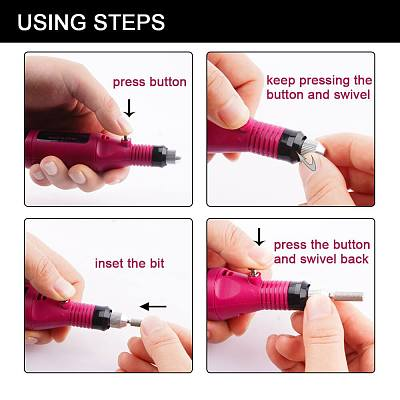 6 Bits Drill Nail Grinding Machine Kit