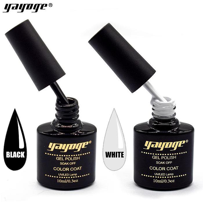 Black White UV LED Nail Gel Polish Long-Lasting Varnish Gel A217/ A218(10ml)