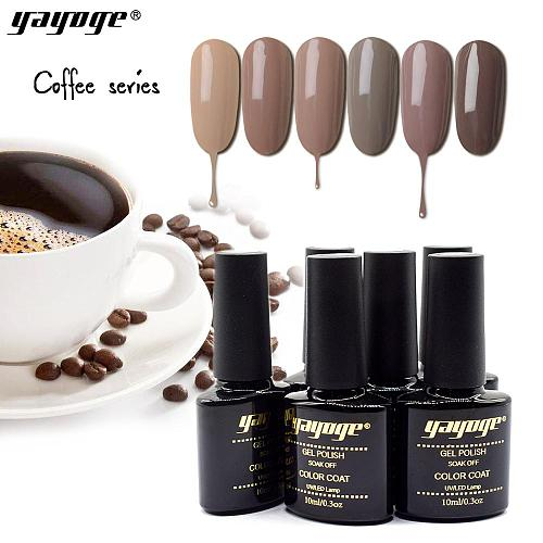 Coffee Color Series UV LED Nail Gel Polish Soak Off Varnish Gel A207(10ml)