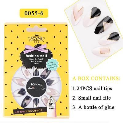 24Pcs Nail Tips with Glue Set JM