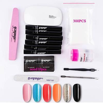 14Pcs/Set Nail Gel Polish Pen Set No Need Base Coat UV LED Soak Off One Step Gel