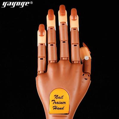 Single Detachable Practice Hand+100pcs Nail Tips Adjustable Hands Model