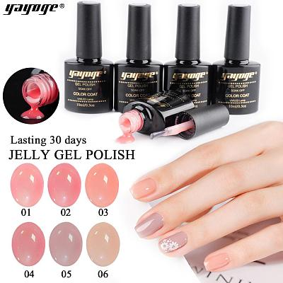 Skin Nude Gel Nail Polish Semi-transparent UV Gel JF-01(10ml)