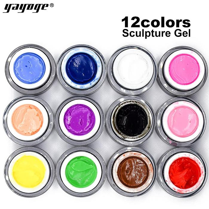 12 Colors Sculpture Nail Gel 3D Carved DH