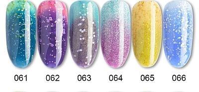 72 Colors Temperature Change Chameleon Color Gel Polish(15g)
