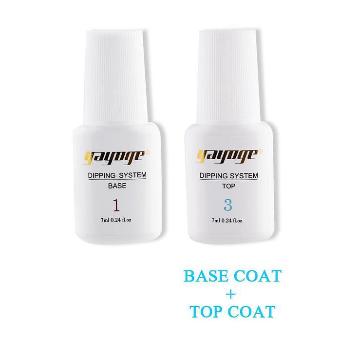 Base Coat & Top Coat & Activator for Dip Powder Nail Chrome