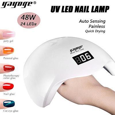2 in1 48W LEDs Nail Lamp UV LED EU/US Plug Curing Lamp LED-S48
