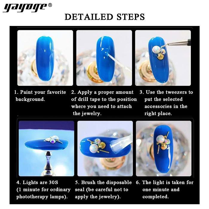 12 TypeS Nail Glitter Diamond Rhinestone Sequins 3D Crystal Stone Nail Art DIY