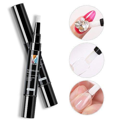 3-in-1-Nail Gel Base + Top + Glue + Slip Solution Pen