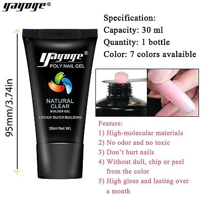 UK WAREHOUSE 7 Basic Colors Poly Gel Set P26-S9-3P(30ml)