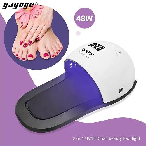 Double Light Mode 48W UV LED Detachable Finger/Toe Slipper Lamp