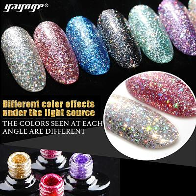 12 Colors Platinum UV Gel Starry Sky Glitter Gel Nail Polish Soak Off