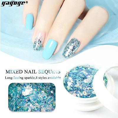 UK WAREHOUSE 8 Colors Glitter Nail Sequins HC