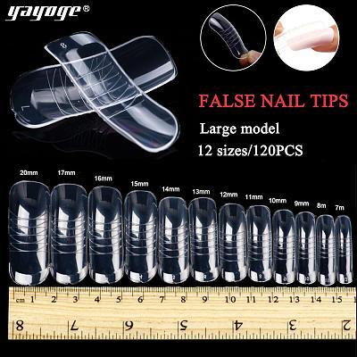 100Pcs Transparent Extending Full False Nail Tips FN100A-T-N-2