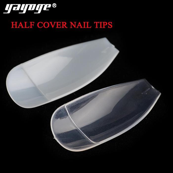 500Pcs/Set Half/Full Cover Ballerina Square French Ballet Acrylic Nail Art Tips