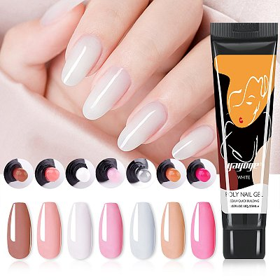 New Pack 9 PCs 2 Colors 15ML Nail Extension Polygel Set YTNP15021