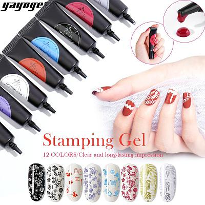 12 Colors Nail Stamping Gel Soak Off Varnish Stamping for Stamping Plate(8ml)