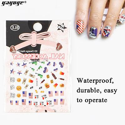 American Independence Day 3D Nail Art Sticker Decals DIY