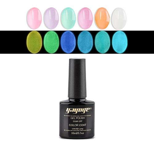 6 Colors 10ml Summer Luminous Nail Gel Soak Off