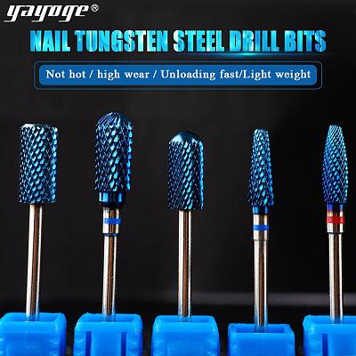 5 Size Flat Head Tungsten Nail Drill Bit For Electric Nail Drill