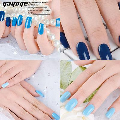 6 Colors Ocean Blue Nail Gel Polish UV LED Soak Off Gel A200