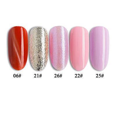 5 Pcs/Set One Step Gel Kit Glitter UV LED Soak Off Gel Pen