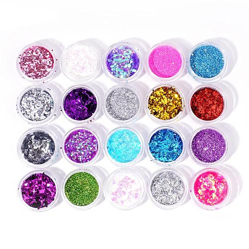 64 Colors Nail Chrome Glitter Powder Sequins SE-F